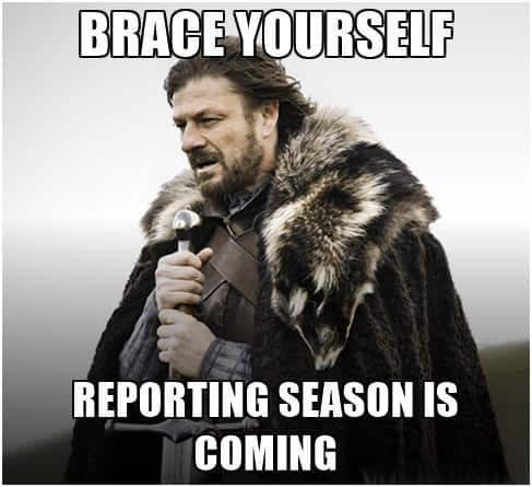 Ned Stark Game of Thrones Reporting Season